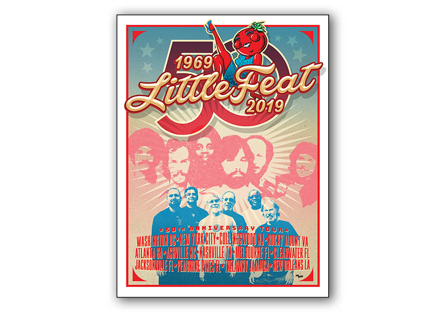 Little Feat 50th Anniversary Poster