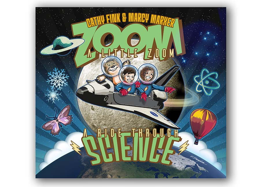 Cathy Fink Marcy Marxer Zoom A Little Zoom Cover